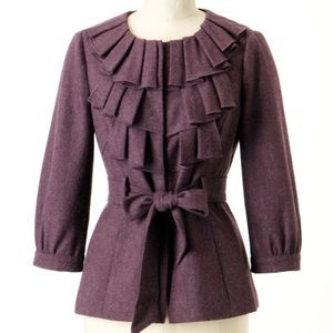 Anthropologie TABITHA Foliage Finder wool jacket